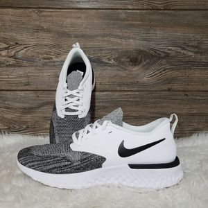New Nike Odyssey React Flyknit White Black Shoes